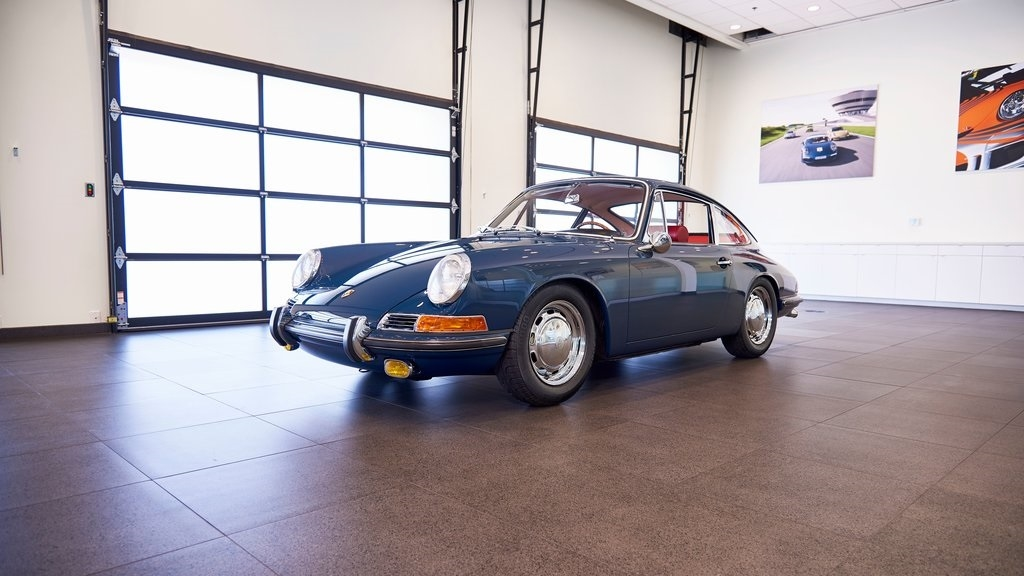 Completely Restored Aga Blue 1967 Porsche 911S Coupe Front