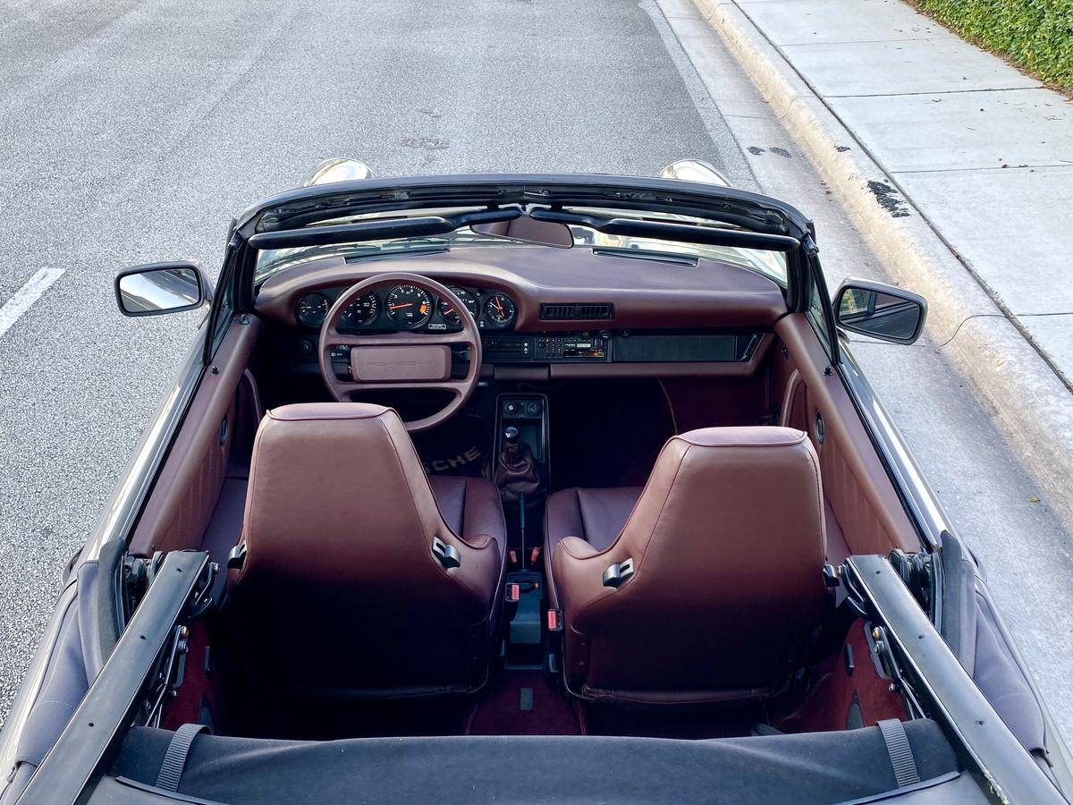 Meteor Grey Metallic 1985 Porsche 911 M491 Cabriolet Interior