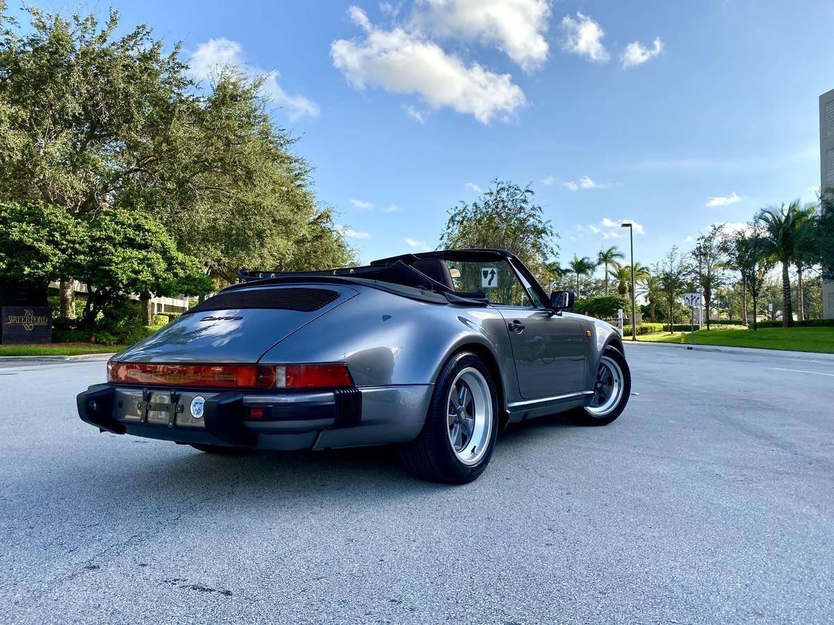Meteor Grey Metallic 1985 Porsche 911 M491 Cabriolet Rear